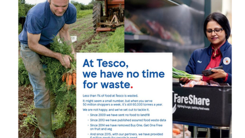 Devon farmer challenges Tesco over promotional picture – BBC News