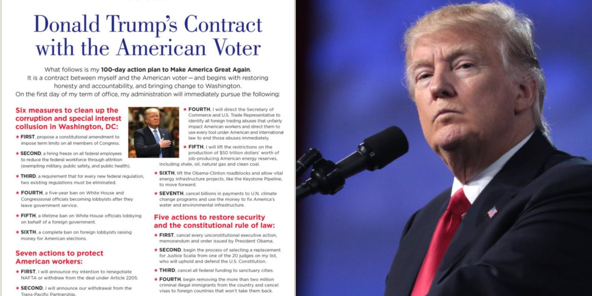 Trump slams 'ridiculous' 100-day standardso why is this 'contract' with voters still on his website?