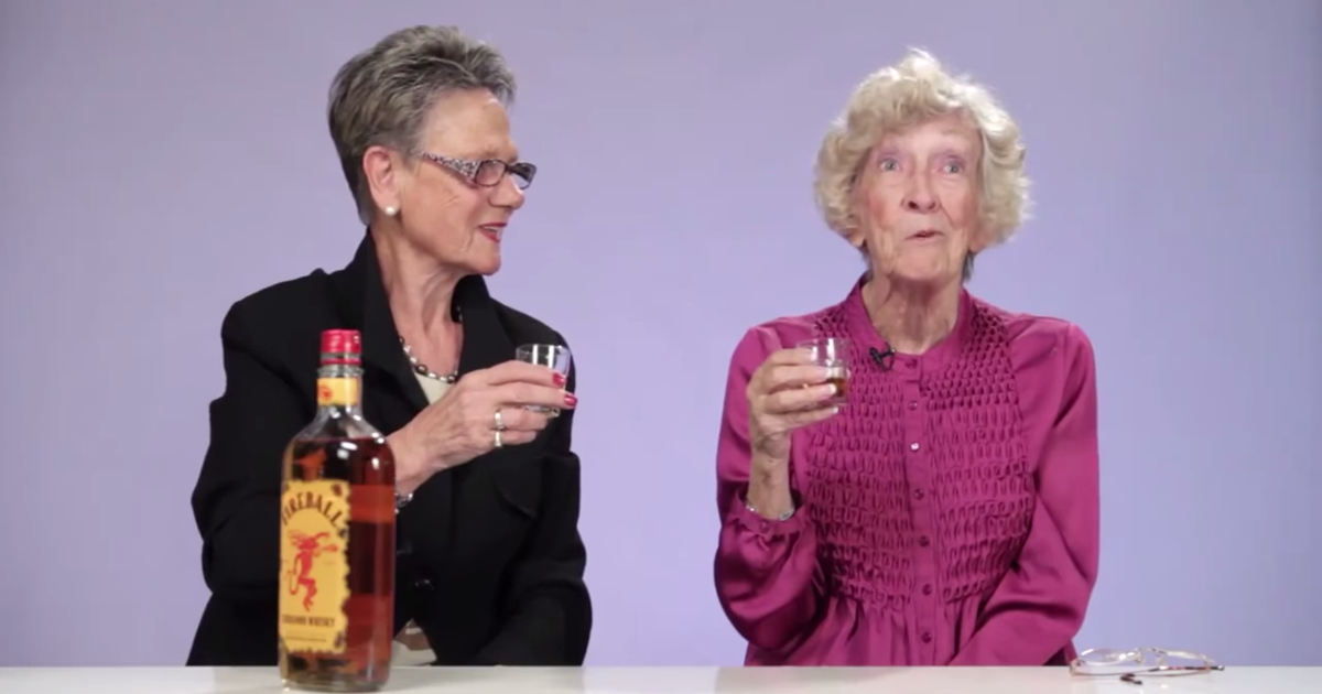 Grannies Try Fireball Whiskey For The First Time And Its Magic
