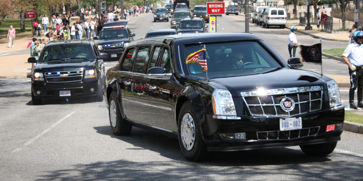 Woman fired for giving Trump motorcade the finger
